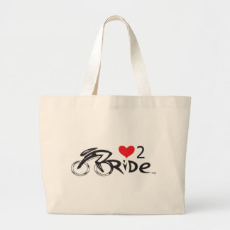 IF YOU LOVE TO  RIDE !!!! Let the world !!!!!!! Large Tote Bag