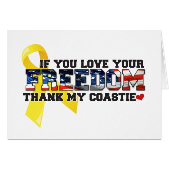 If you love your Freedom thank my Coastie Card