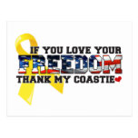 If you love your Freedom thank my Coastie Post Card