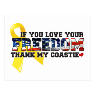 If you love your Freedom thank my Coastie Postcard