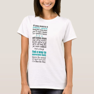 If you marry a creative person... shirt