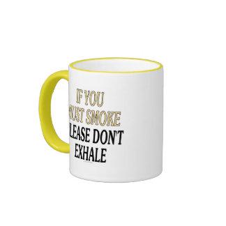 If you must smoke please don't exhale coffee mug