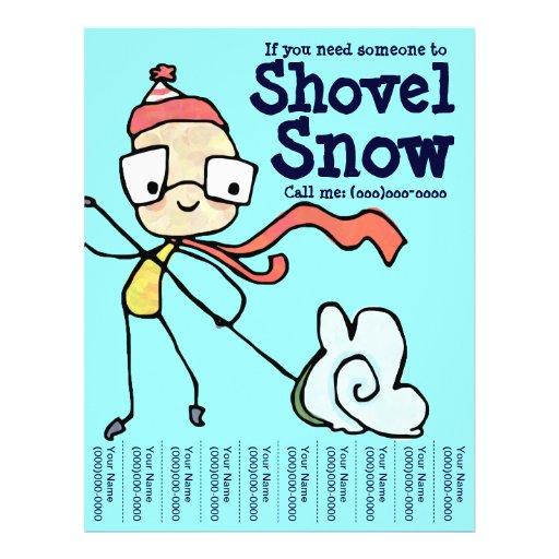 ... Shoveling Flyers, Snow Shoveling Flyer Templates and Printing | Zazzle