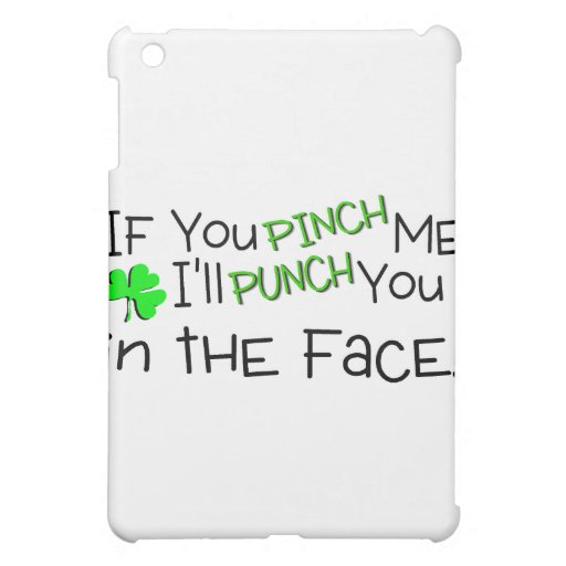 If You Pinch Me Ill Punch You In The Face Irish Case For The iPad Mini