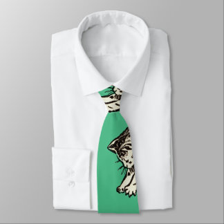 """If you play with cats, expect to be scratched"" Neck Tie"