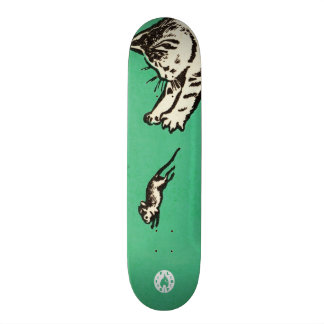 """""""If you play with cats, expect to be scratched"""" Skateboard Deck"""