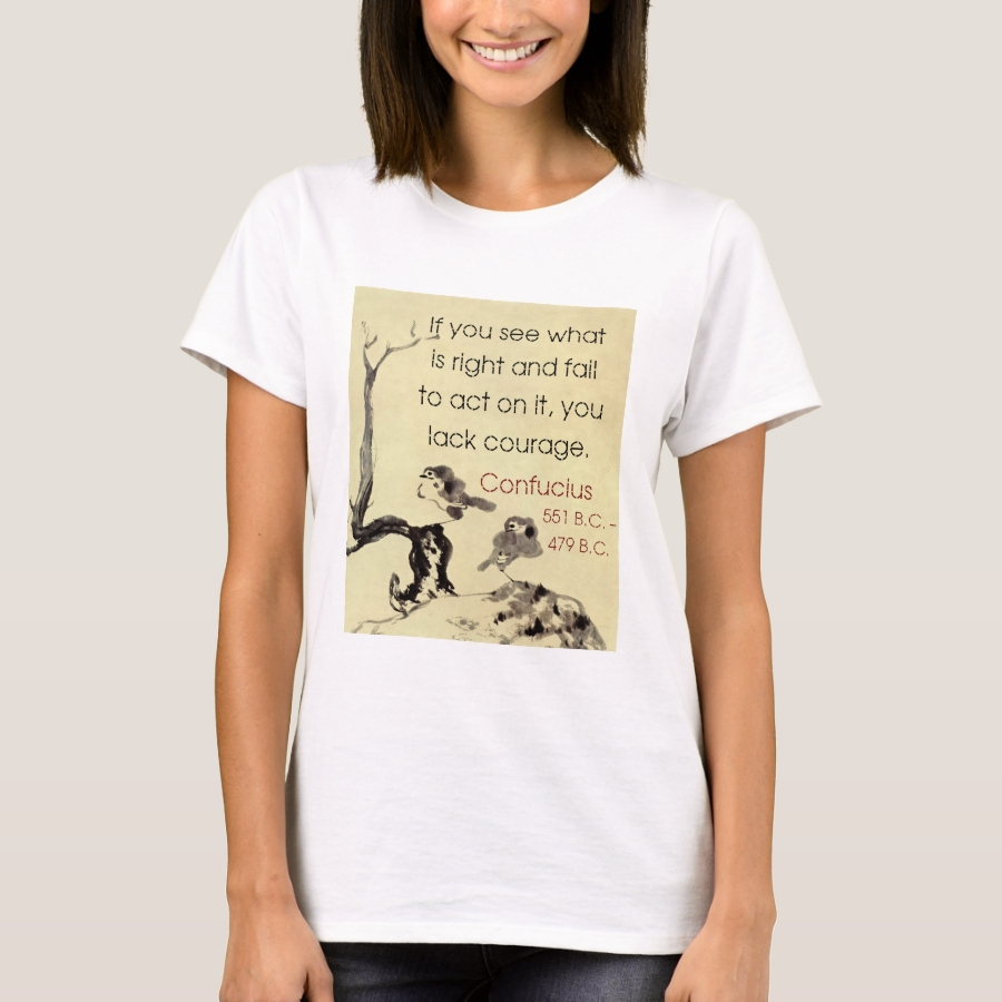 If You See What Is Right - Confucius T-Shirt - Best Selling Long-Sleeve Street Fashion Shirt Designs