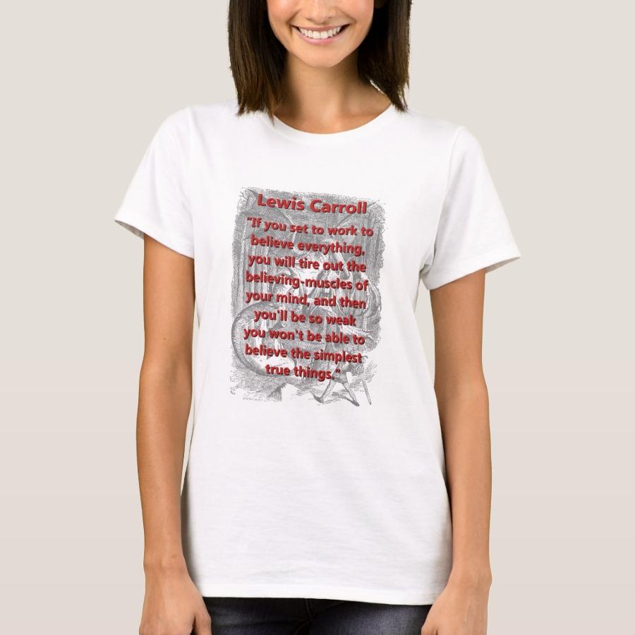 If You Set To Work - L Carroll T-Shirt - Best Selling Long-Sleeve Street Fashion Shirt Designs
