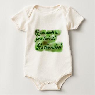 If you smelt it, you dealt it! It's the rules! Baby Bodysuit