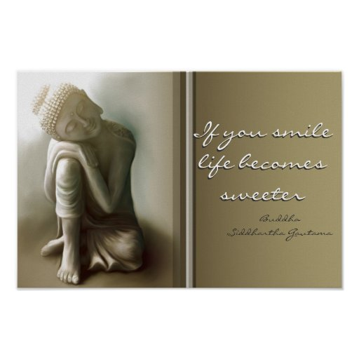 If you smile...Buddha Quote Poster
