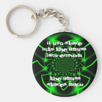 If you stare into the Abyss Keychain
