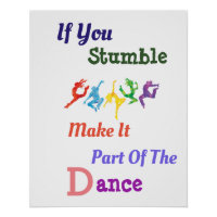 If You Stumble Inspirational Poster