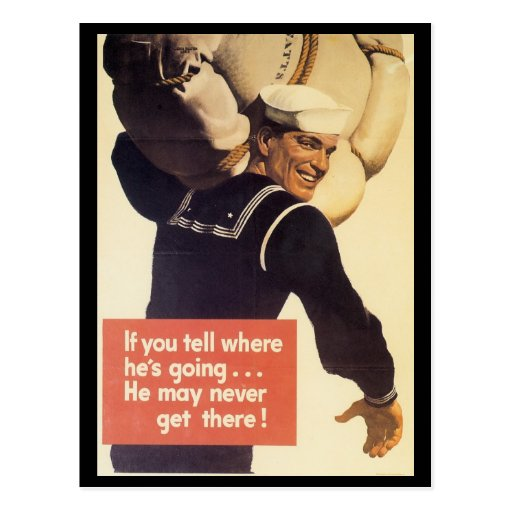 If You Tell World War 2 Post Card