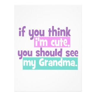 If you think im cute - Grandma Letterhead