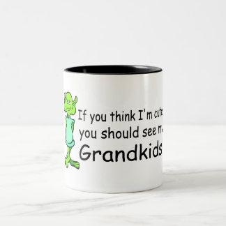 If You Think Im Cute You Should See My Grandkids A Two-Tone Coffee Mug