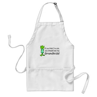 If You Think Im Cute You Should See My Grandkids Adult Apron