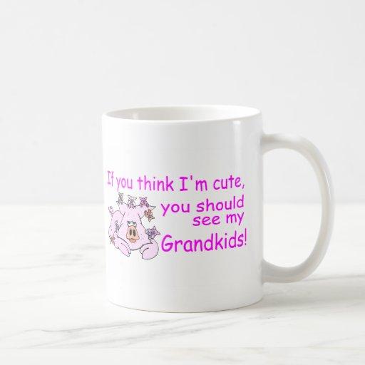 If You Think Im Cute You Should See My Grandkids P Mug