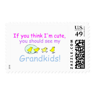 If You think Im Cute You Should See My Grandkids Postage Stamp