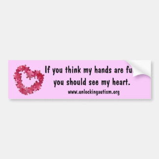 If you think my hands are full, y... bumper sticker