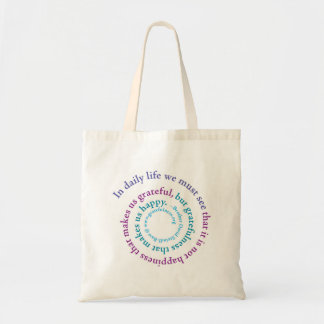 """""""If You Want to be Happy..."""" Spiral, Totebag Tote Bag"""