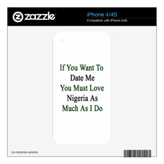 If You Want To Date Me You Must Love Nigeria As Mu Skin For The iPhone 4