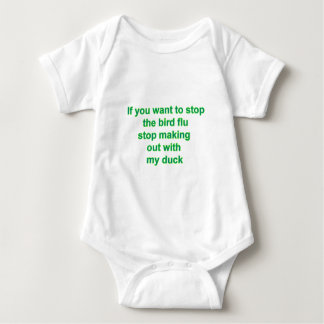 If you want to stop the bird flu..... baby bodysuit