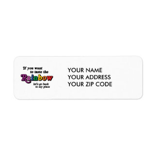 If you want to taste the rainbow custom return address label