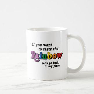 If you want to taste the rainbow classic white coffee mug