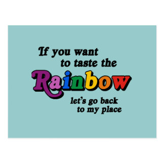 If you want to taste the rainbow postcard