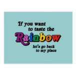 If you want to taste the rainbow postcards