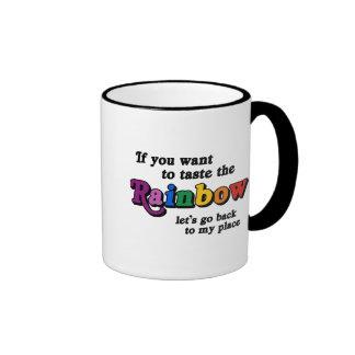 If you want to taste the rainbow ringer coffee mug
