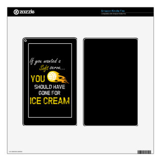 If You Wanted A Soft Serve Ice Cream - Volleyball Decals For Kindle Fire