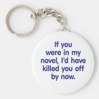 If you were in my novel basic round button keychain