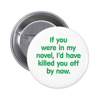 If you were in my novel pinback button
