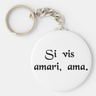 If you wish to be loved, love. key chain