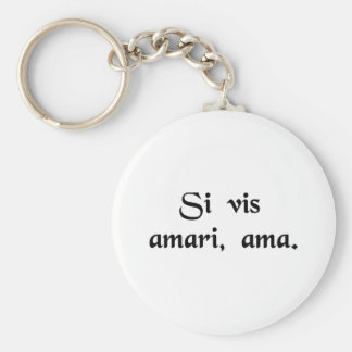 If you wish to be loved, love. keychain