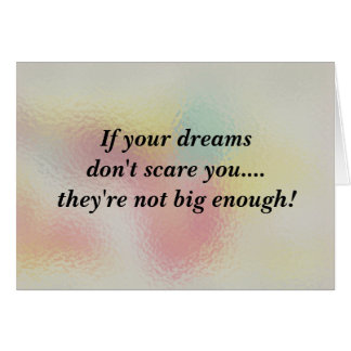 If your dreams stationery note card