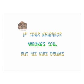 If your neighbor wrongs you, buy all his kids ... postcard