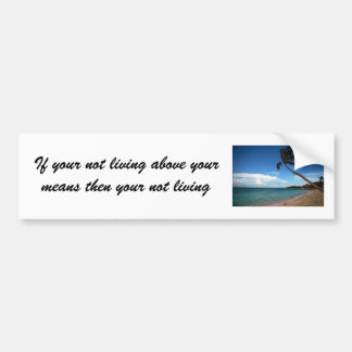 If your not living above your means t... bumper sticker
