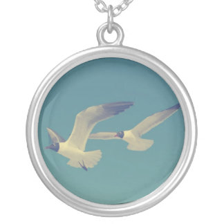 If You're A Bird, Then I'm A Bird Round Pendant Necklace