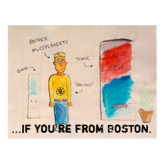 If you're from Boston doode postcard