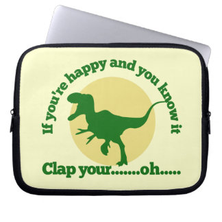 If youre happy and you know it laptop computer sleeve