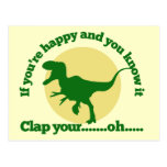 If youre happy and you know it postcard