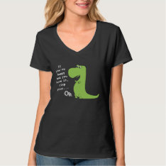 If You're Happy Clap Trex Dinosaur Funny T Shirt at Zazzle