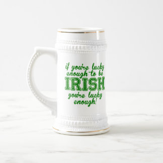 If You're Lucky Enough to be Irish 18 Oz Beer Stein