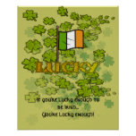 If you're lucky enough to be Irish... Posters