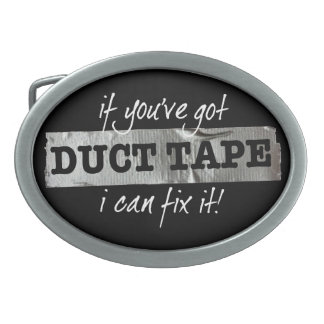 If you've got Duct Tape I can fix it! Oval Belt Buckle