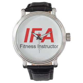 IFA Fitness Instructor Black Vintage Leather Watch