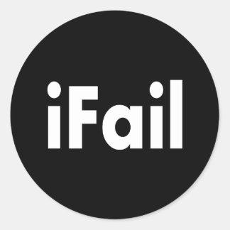 iFail Classic Round Sticker