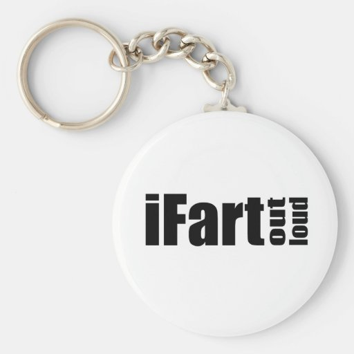 iFart Out Load - Plain Basic Round Button Keychain